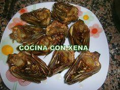 Alcachofas asadas en Gm E from COCINA CON XENA:
