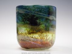 Isle of Wight Studio Glass 'Aurene' vase.
