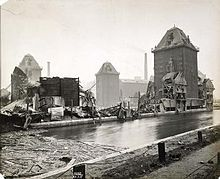 The Silvertown explosion occurred in Silvertown on Friday, 19 January 1917 at 6.52 pm. The blast occurred at a munitions factory that was manufacturing explosives for Britain's World War I military effort. Approximately 50 tons of TNT exploded, killing 73 people and injuring 400 more, as well as causing substantial damage in the local area. This was not the first, last, largest, or the most deadly explosion at a munitions facility in Britain during the war.