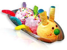 Resultado de imagen para copas de helado con frutas