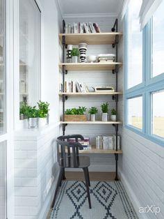 Дизайн небольшой квартиры для девушки (балкон) интерьер, назначение - квартира, дом | тип - балкон, лоджия, терраса | площадь - 0 - 10 м2 | стиль - скандинавский. Разместил INT2architecture на портале arXip.com