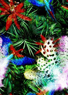 textile prints design  --  2013 by Irene Coll, via Behance