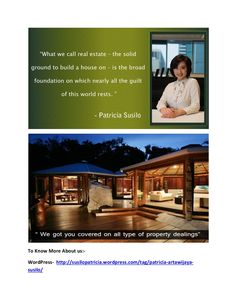 Patricia artawijaya susilo in real estate bussiness by PatriciaSusilo07 via slideshare