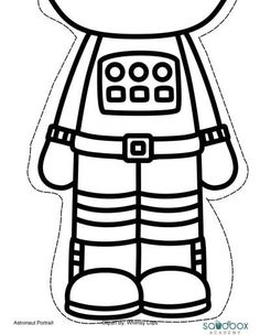 Printable template for the Astronaut | Crafts and ...