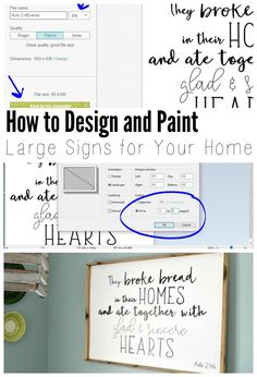 I recently made a custom sign for my dining room, and I realized as I was writing the tutorial that the steps on how to design the lettering for a hand painted sign was a complete tutorial all in itself.  If you're looking for an easy way to design signs, without the need for stencils,…