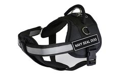 Dean and Tyler 28-Inch to 38-Inch Pet Harness with Padded Reflective Chest Straps, Medium, Navy Seal Dog, Black * Find out more about the great product at the image link. (This is an affiliate link and I receive a commission for the sales)