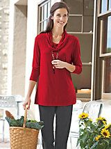 Women's Metro Knits Cowl-Neck Tunic & Pants Outfit | Norm Thompson