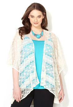 Bohemian Lace Long Sleeve Kimono Cardigan | Boho chic fashion ...