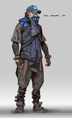 Cyberpunk style suit for myself, Rock D on ArtStation at https://www.artstation.com/artwork/KJdVX