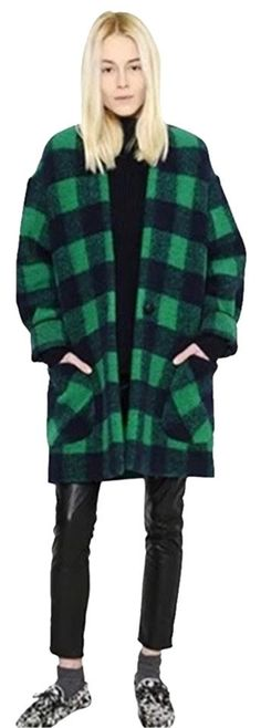 toile Isabel Marant Buffalo Plaid Wool Oversized Jacket Pea Coat. Free shipping and guaranteed authenticity on toile Isabel Marant Buffalo Plaid Wool Oversized Jacket Pea CoatThis wool-blend plaid coat from Etoile Isabel Mara...