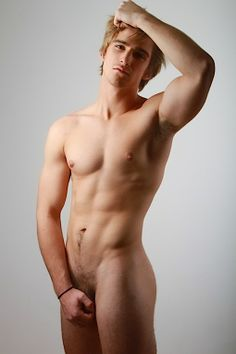 blond nude male model