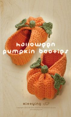 Though technically I'm fed up with the word 'Pumpkin' on Pinterest these pumpkin booties are really just too cute