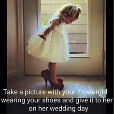 Wedding Poses Flower girls like to dress up. Cute idea for your wedding day, and to remember down the road Cute Wedding Ideas, Wedding Goals, Wedding Pics, Perfect Wedding, Our Wedding, Dream Wedding, Wedding Inspiration, Wedding Stuff, Wedding 2017