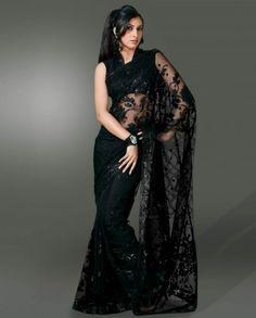 black net sari