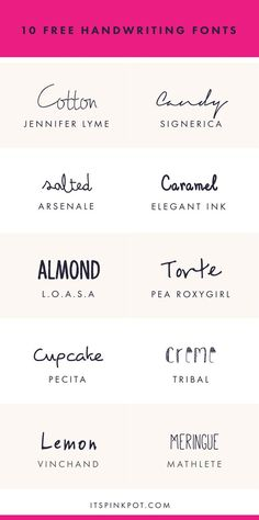Check out these 10 gorgeous handwriting fonts. They are all FREE too so enjoy. You will love these !