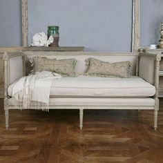 Covington*Design: A Delicious French / Swedish Furniture Line - Part 1 Shabby Chic Sofa, Shabby Chic Furniture, French Decor, French Country Decorating, Swedish Decor, French Daybed, Paris Rooms, Retro Appliances, French Country Style