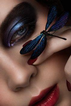Recent work - Romy Bondy's Portfolio Glitter Photo Shoots, Dark Beauty Magazine, Butterfly Face, Close Up Portraits, Creative Portraits, Facial Cleansers, Foto Pose, Beauty Photography, Photography Ideas