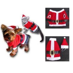 Sandy – Costume Noël pour chat – chien: Ce costume de noël 3 pièces en feutrine douce conçu pour un chat ou un chien de quelques kilos…