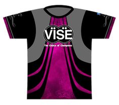 Vise Pink Dye Sublimated Jersey. An exclusive jersey for Vise, a leading insert and accessory manufacturer!