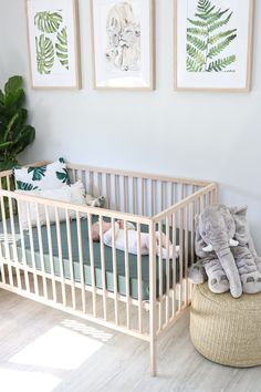 Crinkle Muslin Fitted Crib Sheet - BABY ROOMn IDEAS - Best Picture For gender neutral nursery For Your Taste You are looking for something, and it is g - Nursery Crib, Baby Nursery Decor, Baby Bedroom, Baby Boy Rooms, Baby Cribs, Koala Nursery, Baby Boy Crib Bedding, Ikea Nursery, Lego Bedroom