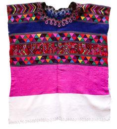 Handwoven Mayan huipil. Origin:Santa Maria Nebaj,Quiché #huipil #embroidery #backstraploom #guatemala #nebaj #quiche