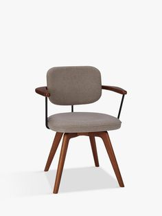 Buy John Lewis & Partners Soren Office Chair, Grey/Brown from our Office Chairs range at John Lewis & Partners. Wooden Office Chair, Swivel Office Chair, John Lewis, Comfortable Office Chair, Home Office Setup, Dining Table Chairs, Desk Chairs, Office Chairs, Office Furniture