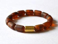 Amber bracelet, Natural Amber Jewelry, Pure Amber Bracelet, Modern Amber Gift by KARUBA on Etsy