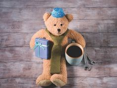Father's day style teddy bear by Life Morning Photography on @creativemarket