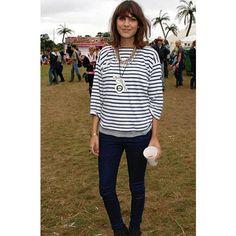 ALEXA CHUNG wearing SAINT JAMES