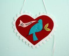 Be My Bluebird ~ Wool Felt Valentine Tutorial «Cosa, Mama, coser! Blog