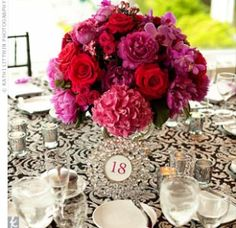 05202012 – Red and Pink Centrepieces