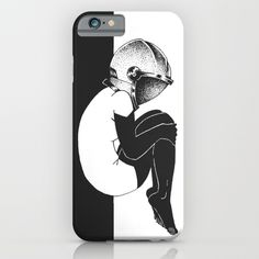 Astrogirl iPhone 6 Slim Case.    Space is the breath of art.   Do you have a #favorite #illustrators? Tag an artist who inspires you.                         #Art #Print #sketch #artwork #karmanverdi #tattoo #dotwork #shop #beard #idea #tshirt #sociaty6 #girl #space #cosmos #black #white