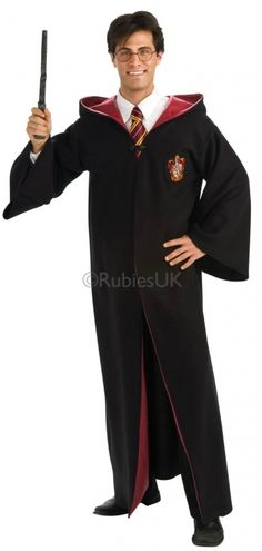 Adult Mens or Ladies Harry Potter Fancy Dress Costume Robe. Official Harry Potter. Perfect for a birthday party costume or Halloween outfit. HP birthday party ideas & inspiration.