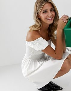 Browse online for the newest ASOS DESIGN shirred bodice square neck cotton mini smock dress styles. Shop easier with ASOS' multiple payments and return options (Ts&Cs apply). Asos, Smock Dress, Smocking, Mini, Fashion Online, Bodice, Cotton, Holiday, Dresses