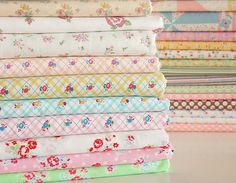 eeeeeeeeeeeeks!!!!!!!!! I'm fainting, these pastel fabric stacks by lecien are more than pretty