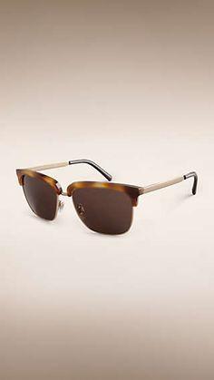 Occhiali da sole con montatura quadrata collezione Trench Uomini Formali 80e2d0b23c8