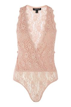 Plunge Lace Bodysuit from Topshop R520,00