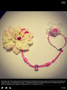 My necklace paci I made for a baby shower