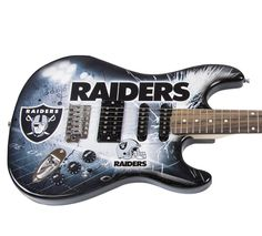 Oakland Raiders Official NFL Electric Guitar