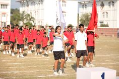 Flag march event at Tula's International School, Dehradun on annual sports day.