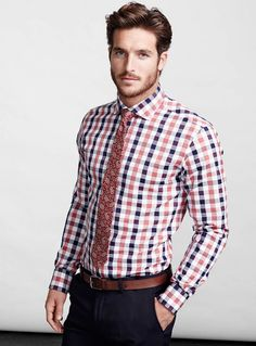 Love this shirt and tie - Justice Joslin Poses for Simons' Spring 2014 Look Book