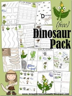 FREE Dinosaur Worksheets for Toddler, Preschool, Kindergarten, 1st grade, 2nd grade. Kids will love learning their alphabet letters, numbers and more with a fun dinosaur theme.