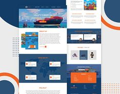 Export Business, Adobe Xd, Landing Page Design, Business Website, Behance, Profile, Templates, Gallery, Check