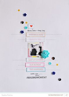 #papercraft #scrapbook #layout Marks & Co. The Layouts.