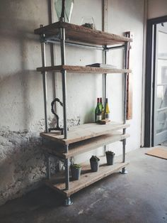 MADE TO SIZE // Reclaimed Scaffold Board & Pipe Industrial Shelving Unit. by ReviveJoinery on Etsy https://www.etsy.com/listing/208043435/made-to-size-reclaimed-scaffold-board