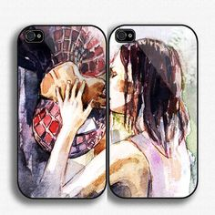 Spiderman Kiss Mary Janee Couple iPhone Case , iPhone 4 case, iPhone 5 Case,Samsung galaxy s3, Samsung galaxy s4 , monogram case, Love heart...
