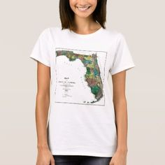 Shop Florida Map and State Flag T-Shirt created by TheFlagStore. Personalize it with photos & text or purchase as is! Florida State Flag, Wardrobe Staples, Fitness Models, Map, T Shirts For Women, Female, Flags, Casual, Cotton