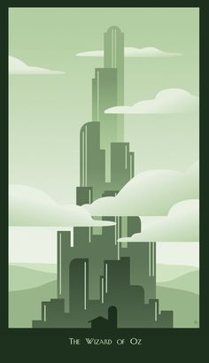 Art Deco Wizard of Oz by BrinkleyInk.deviantart.com on @deviantART