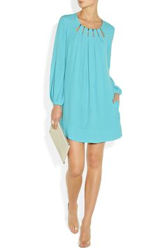 Diane von Furstenberg|Beres cutout crepe dress|NET-A-PORTER.COM