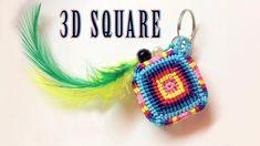 Macrame tutorial: 3D colored square key chain - Hướng dẫn làm móc khóa h... Macrame Bracelet Patterns, Macrame Bracelet Tutorial, Friendship Bracelets Tutorial, Macrame Earrings, Tatting Patterns, Earring Tutorial, Macrame Patterns, Macrame Jewelry, Macrame Bracelets